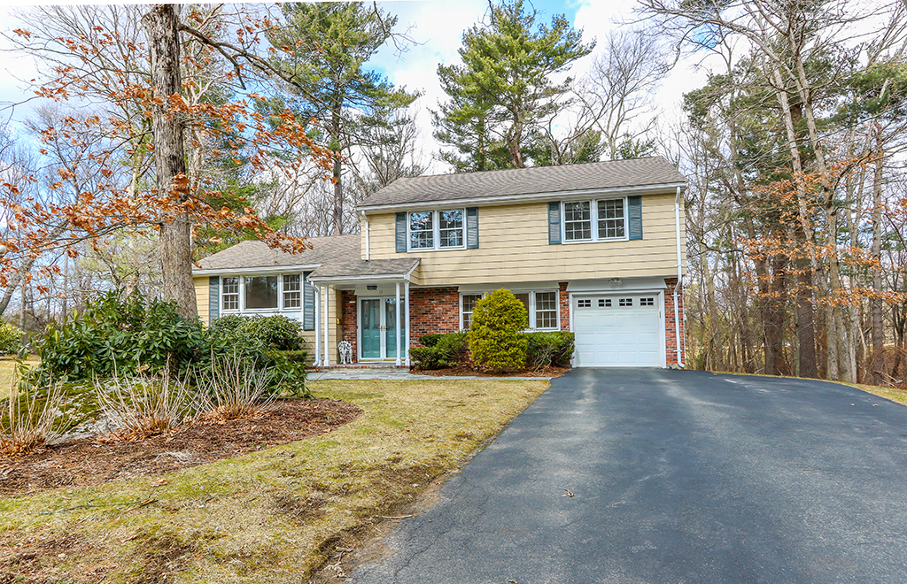 Front exterior photograph of 15 Tamarack Way in Sharon MA
