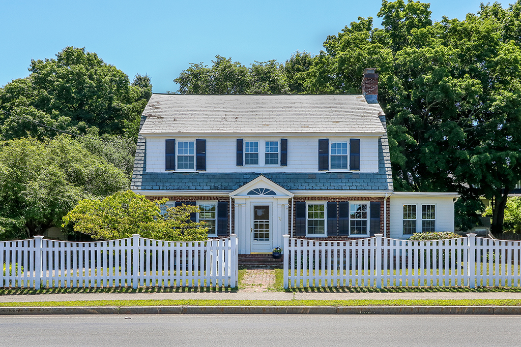 Front Exterior Photograph of 77 Whiting Avenue, Dedham MA